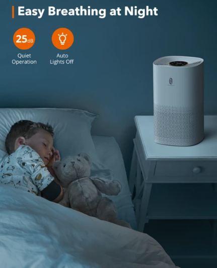 Can I Use an Air Purifier While Sleeping - TaoTronics HEPA Air Purifier for Home (TT-AP005)